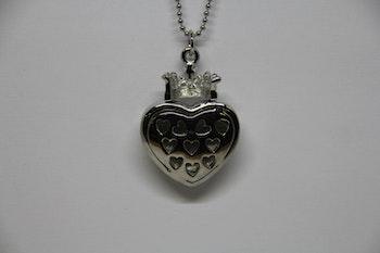Halsband, hjärta med krona