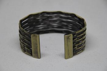 Armband, stål, rostguld