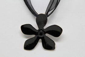 Halsband, svart med svart rem