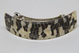 Hårklämma, guld/svart/silvrigt mönster
