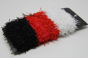 Hårsnodd, 6 st, vita/röda/svarta