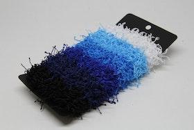 Hårsnodd, 6 st, vit/ljusblå/blå, 2 mörkblå/svart