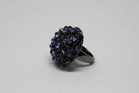 Ring blå/mörkblå glittrigt mönster