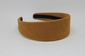Diadem brun mocka, 5 cm bred