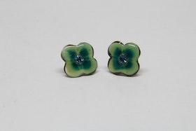 Örhänge Grön ca 10 mm