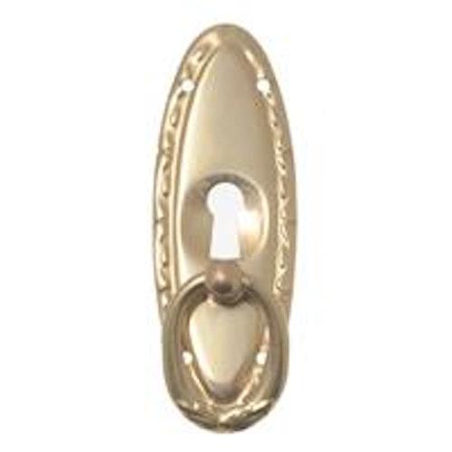 Möbelkläpp i mässing med nyckelhål