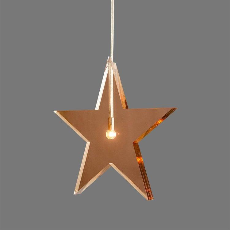 Jubileumsstjärna Koppar ø22cm, 1,5cm tjock.