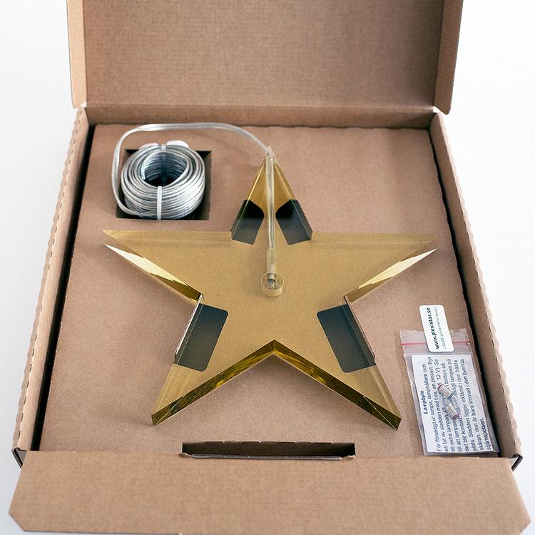 Jubileumsstjärna Guld ø22cm, 1,5cm tjock.