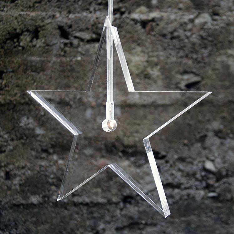 Jubileumsstjärna Klar ø22cm, 1,5cm tjock.