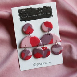 Multi shape lila & rosa