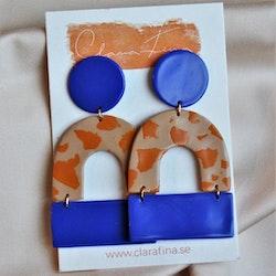 Multi shape blå & orange
