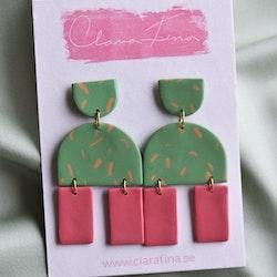 Multi shape grön & rosa