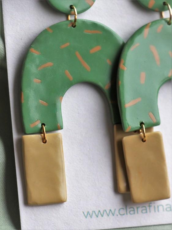 Arch split grön & gul
