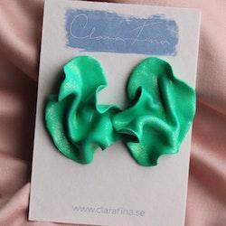 Satin grönt glitter