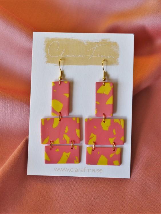 Multi shape på krok gul & rosa terrazzo