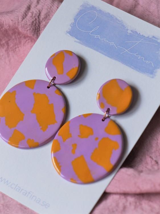 Dubbelprick orange och lila terrazzo