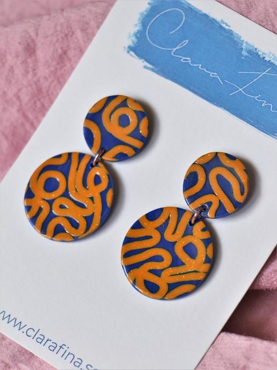 Dubbelprick mini orange och blå