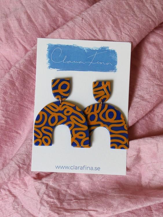 Short Arch orange och blå