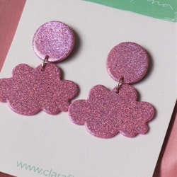Litet glittermoln rosa glitter