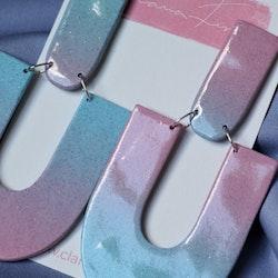 Arch upp och ned rosa och blå