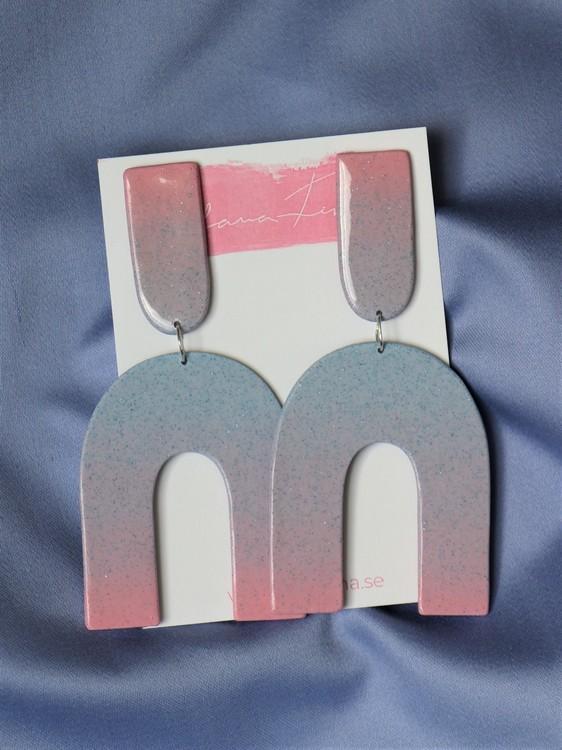 Arch rosa och blå