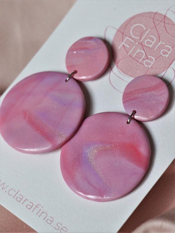 Dubbelprick rosa marmorering