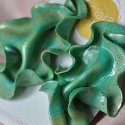 Satin grön marmorering