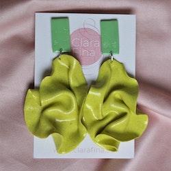 Satin rectangular top neongult glitter och mintgrön