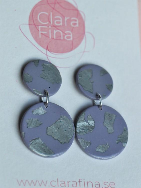 Dubbelprick mini lila och silver