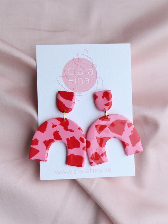 Short arch rosa och röd terrazzo