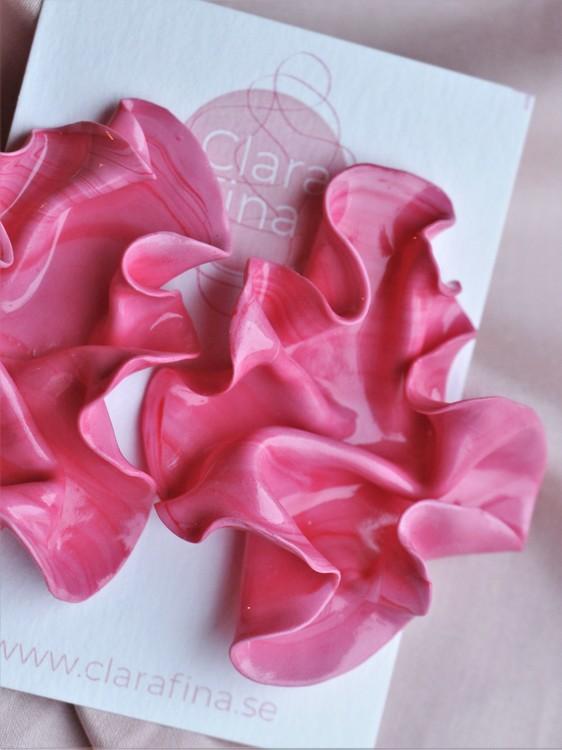 Satin XL rosaröd marmorering