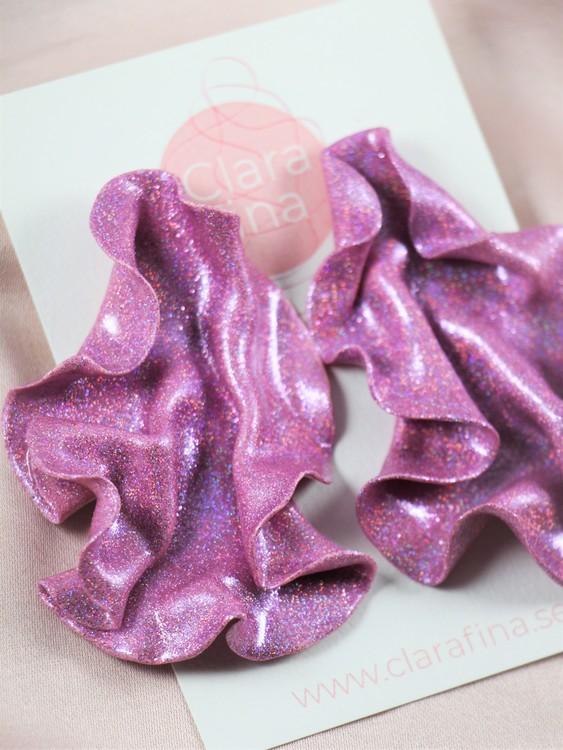 Satin rosa glitter