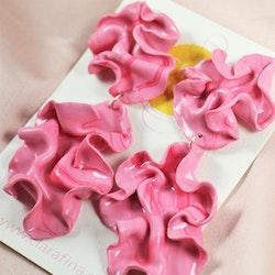 Dubbel satin rosa marmorering