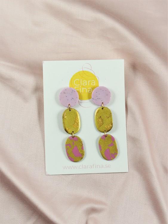 Lotta dubbel ljuslila, mässing och terrazzo i guld och rosa