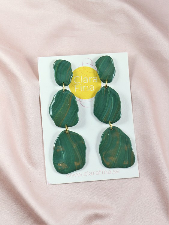 Stensamling Grön, malakitlook