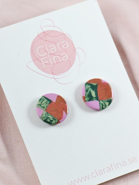 Stud lila grönt och kopparfärgat mönster
