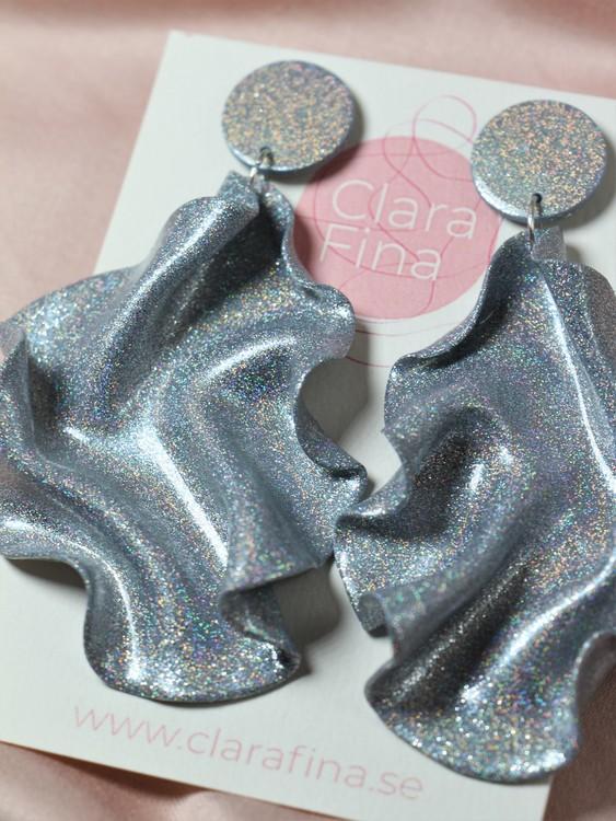 Satin Round top silverglitter