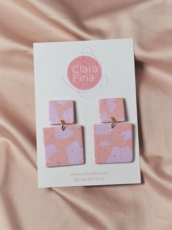 Kvadrat rosa och lila terrazzo