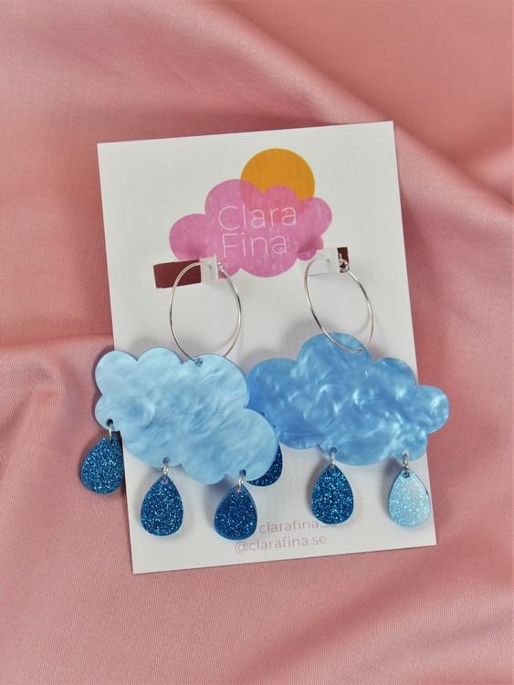 Regnmoln på ring blå