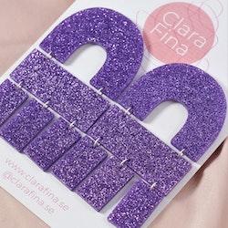 Multi Shape lila glitter
