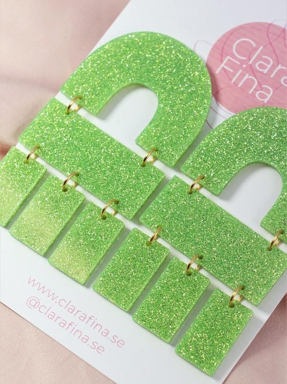 Multi Shape grönt glitter