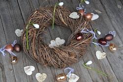 Näverhjärtan för dekoration - 12p