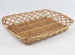 Brödkorg - rektangulär glesflätad