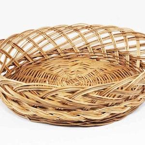 Brödkorg - rund glesflätad