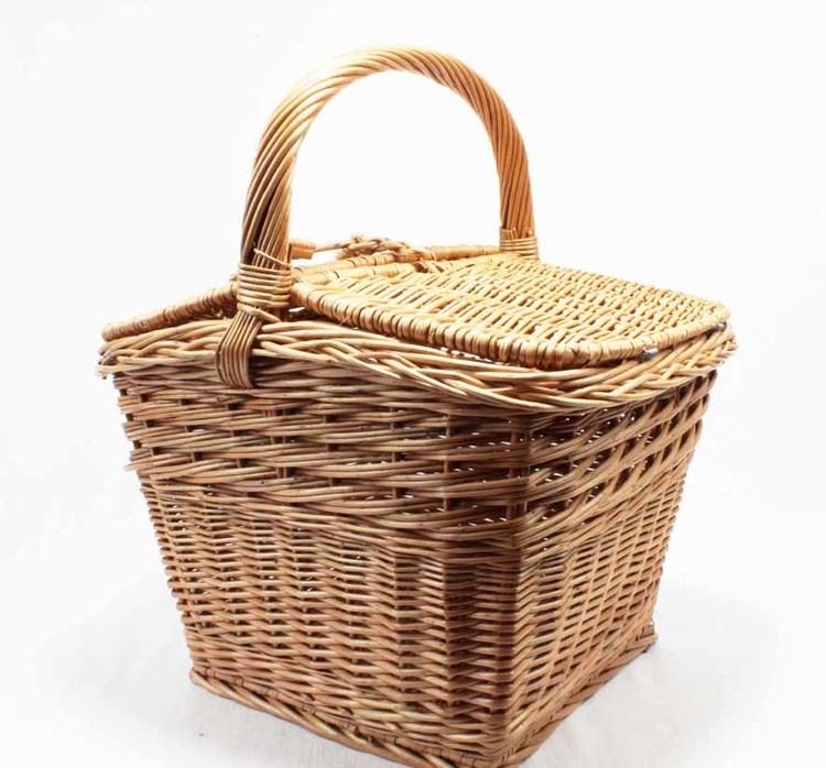 Picknickkorg m lock - kvadratisk