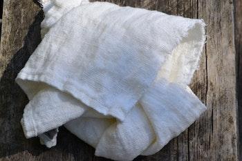 Handduk grov linne - benvit