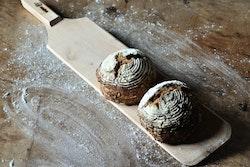 Bakspade trä - extra smal m handtag