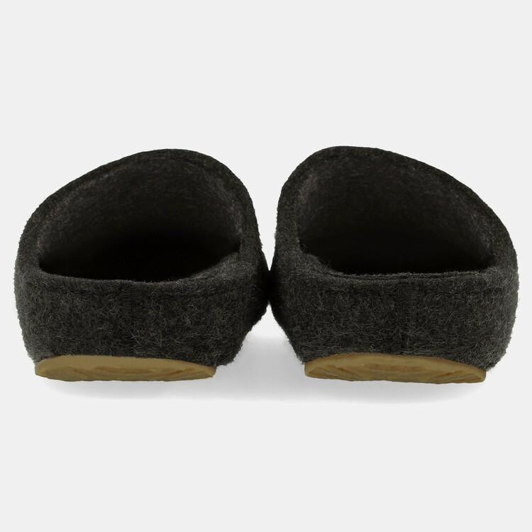 Toffelsko Haflinger Michael - ulltoffel med stadig löstagbar korksula - svart
