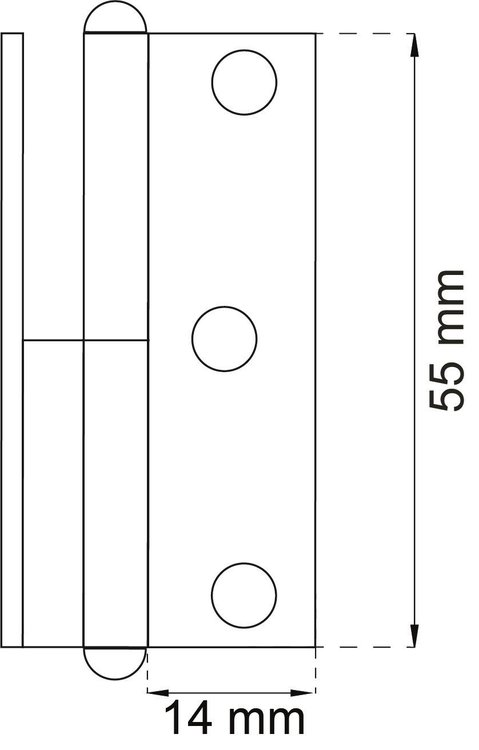 Habo Gångjärn 5006 elzink höger galv