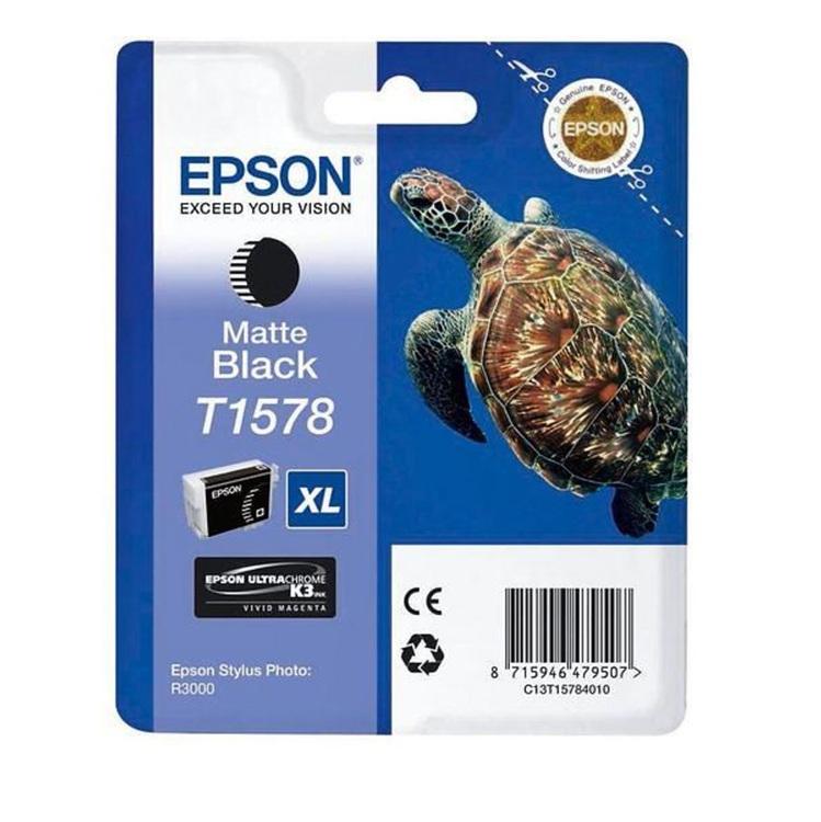 Epson T1578 mattsvart bläckpatron